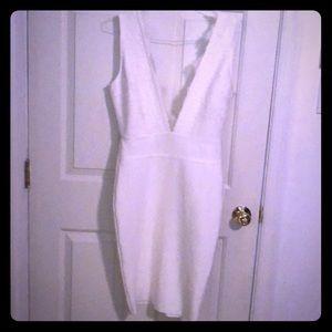 Dresses & Skirts - Ivory formal low cut dress